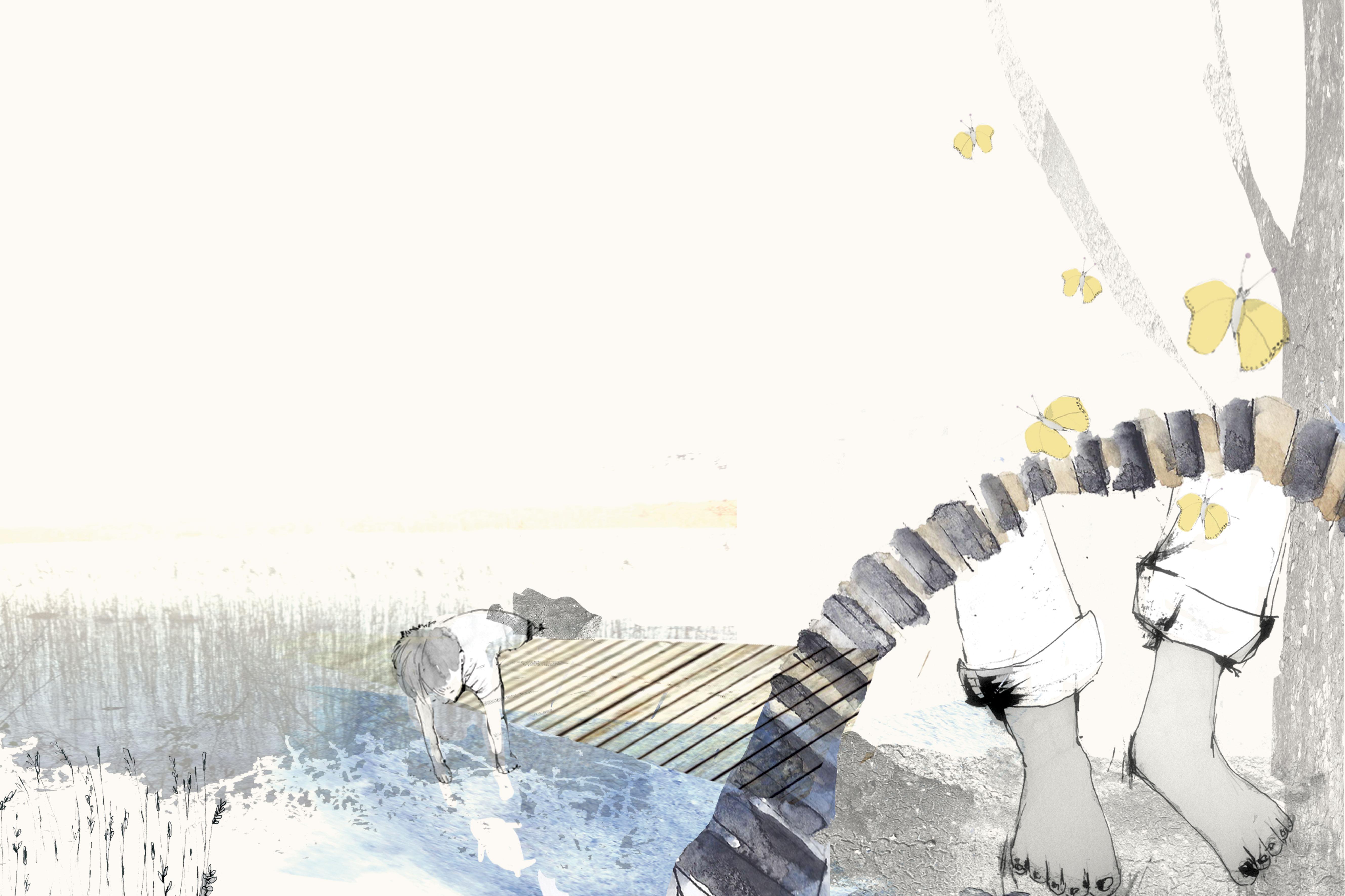 Ned til bækken. Fortalt af Jens Peter Madsen, tegning af Tanja Eijgendaal