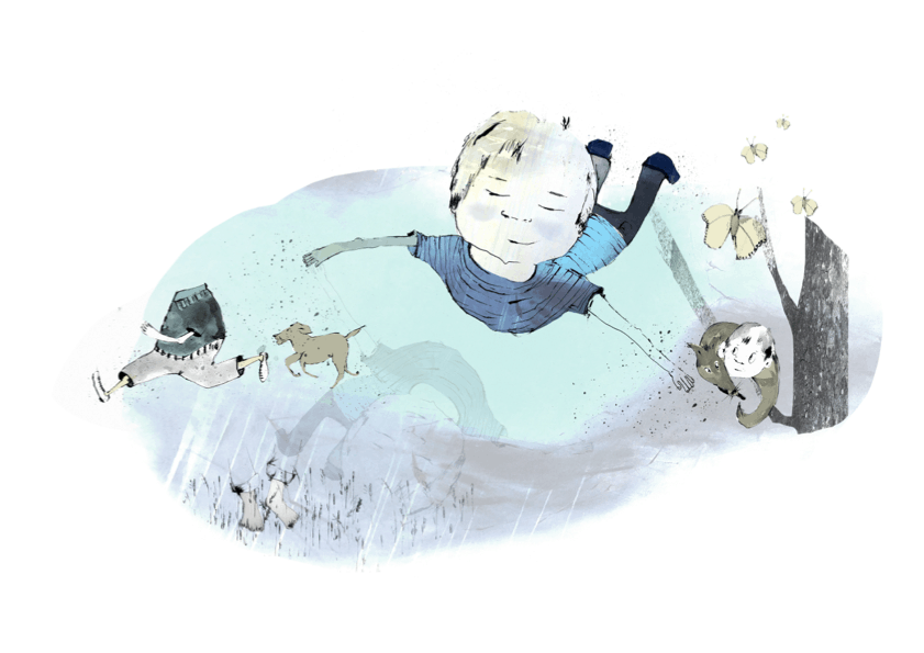 En dreng med en livlig fantasi. Fortalt af Jens Peter Madsen, tegning af Tanja Eijgendaal