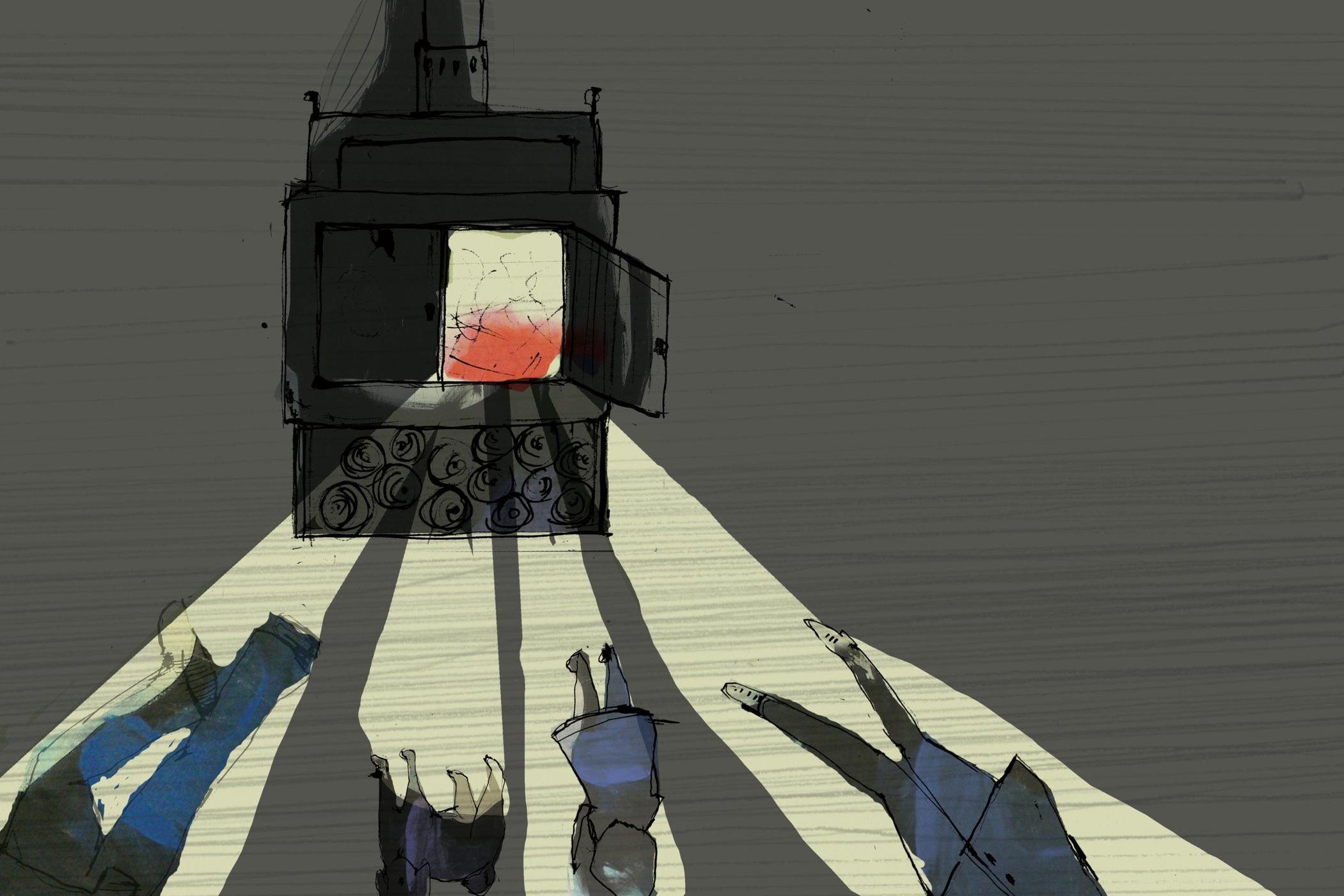 I mørkningen. Fortalt af Jens Peter Madsen, med tegning af Tanja Eijgendaal