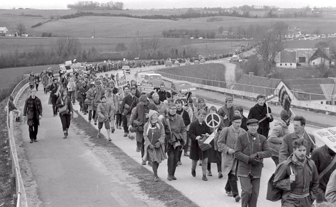 Atomvåben-marchen fra Holbæk til København